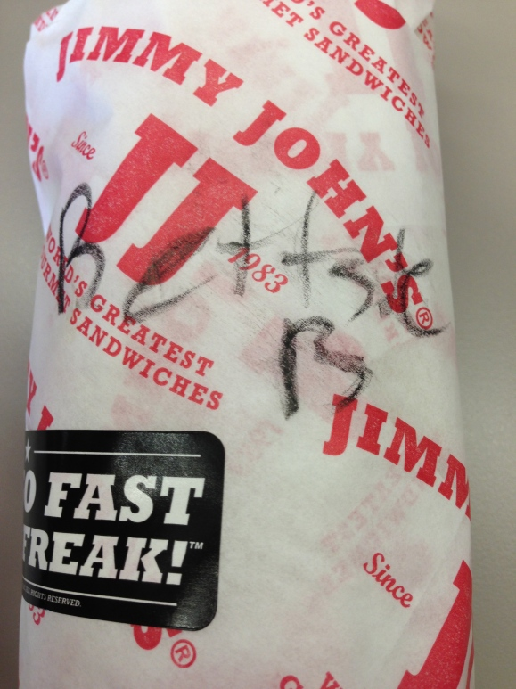 Oh Jimmy Johns, you're so cray cray.