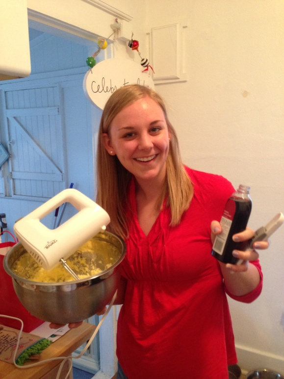 She mixes, she stirs, she bakes... She's basically the entire reason this post exists!