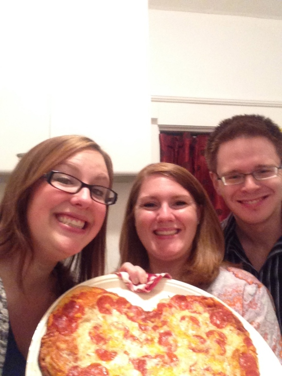 My gingers! The pizza! A perfect night.