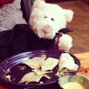 Eating Tacos at Taco Tuesday!